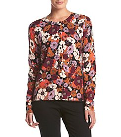 August Silk® Gypsy Floral Cardigan