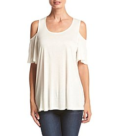 Bobeau® Cold Shoulder Top