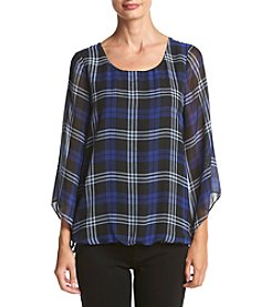 AGB® Plaid Bubble Body Top