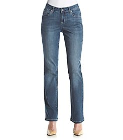 Earl Jean® Petites' Bling Pocket Denim Jeans