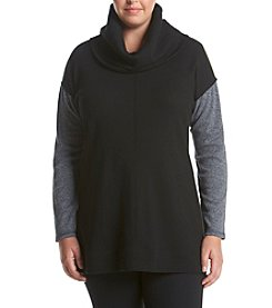 Calvin Klein Performance Plus Size Cowl Neck Thermal Knit Top