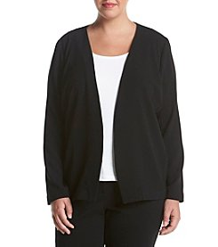 Relativity® Plus Size Solid Color Crepe Jacket