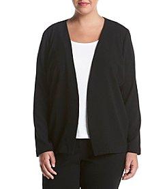 Relativity® Plus Size Solid Color Crepe Jacket