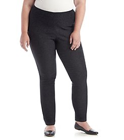 Relativity® Plus Size Skinny Pull On Patterned Pants