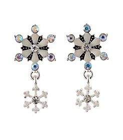 Studio Works® Glitter Snowflake Post Earrings