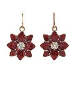 Studio Works® Goldtone Poinsettia Earrings