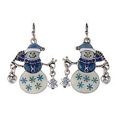 Studio Works® Silvertone Snowman Drop Earrings