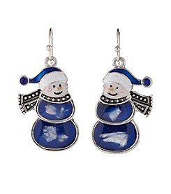 Studio Works® Silvertone Snowman Fishhook Earrings