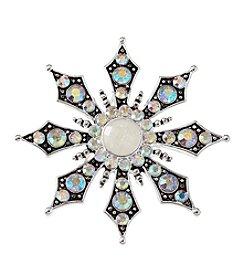 Studio Works® Silvertone Marcasite Snowflake Pin