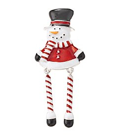 Studio Works® Silvertone Snowman Pin With Dangling Legs