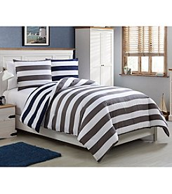 VCNY Home Cameron Rugby Stripe Comforter Set