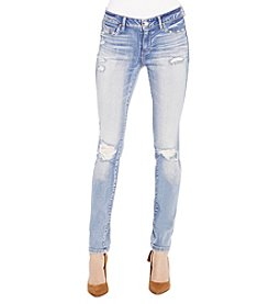 Jessica Simpson Light Wash Kiss Me Destruction Super Skinny Jeans