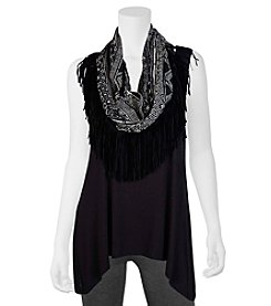 A. Byer Tank Top With Printed Scarf