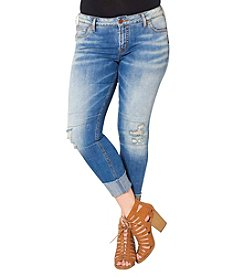 Silver Jeans Co. Plus Size Ripped Knee Girlfriend Jeans