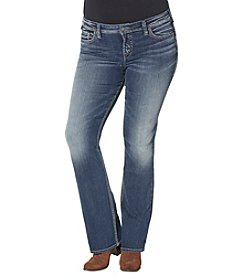 Silver Jeans Co. Plus Size Aiko Mid Rise Bootcut Jeans