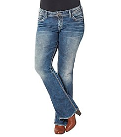 Silver Jeans Co. Plus Size Embellished Back Pocket Suki Mid Rise Bootcut Jeans