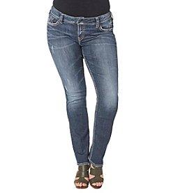 Silver Jeans Co. Plus Size Suki Mid Rise Straight Leg Jeans