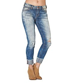 Silver Jeans Co. Destructed Cuff Boyfriend Ankle Jeans