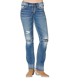 Silver Jeans Co. Suki Mid Rise Destructed Bootcut Jeans
