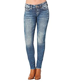 Silver Jeans Co. Elyse Mid Rise Skinny Jeans