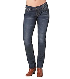 Silver Jeans Co. Elyse Mid Rise Straight Leg Jeans