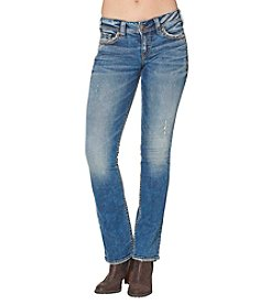 Silver Jeans Co. Embellished Suki Mid Rise Slim Bootcut Jeans