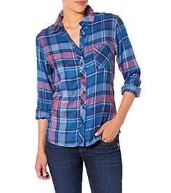 Silver Jeans Co. One Pocket Plaid Shirt