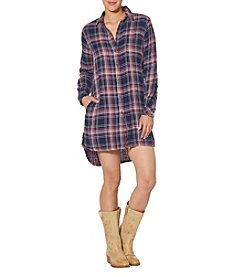 Silver Jeans Co. Plaid High-Low Dress