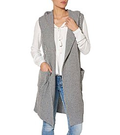 Silver Jeans Co. Long Hooded Sweater Vest