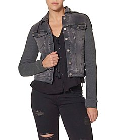 Silver Jeans Co. Denim Jacket With Knit Hood