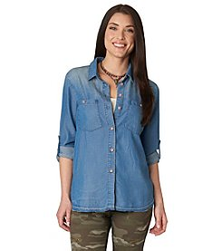 Democracy Button Down Top