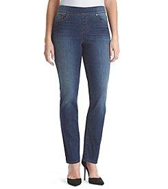 Gloria Vanderbilt® Avery Pull-On Straight Leg Jeans