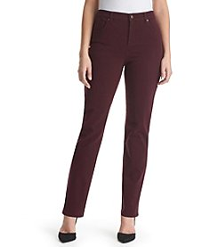 Gloria Vanderbilt® Amanda Colored Straight Leg Denim Jeans