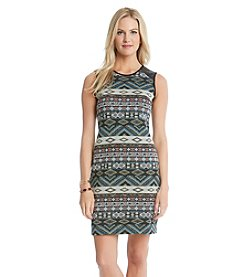 Karen Kane® Contrast Jacquard Dress