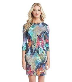 Karen Kane® Floral Canvas Sheath Dress
