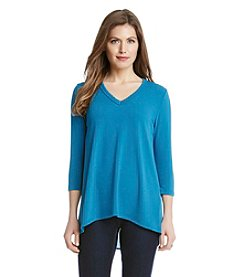 Karen Kane® Contrast Back V-Neck Top