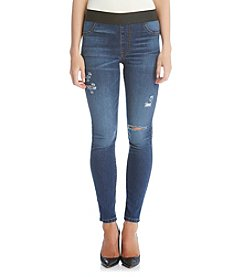 Karen Kane® Distressed Ankle Jeans