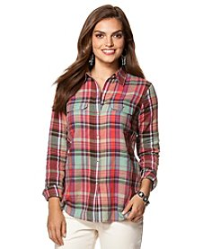 Chaps® Ravine Plaid Twill Workshirt