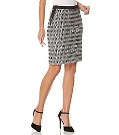 Rafaella® Petites' Geo Jacquard Ponte Skirt