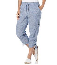 Rafaella® Petites' Stripe Tie Cropped Pants