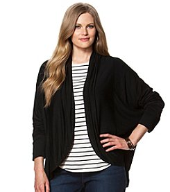Chaps® Plus Size French Terry Dolman Cardigan