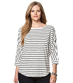 Chaps® Plus Size Striped Jersey Top