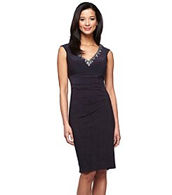 Alex Evenings® Beaded V-Neck Dress