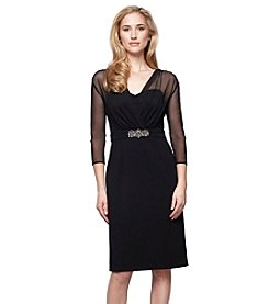 Alex Evenings® Short Shift Illusion Surplice Neckline Dress