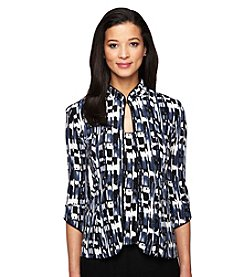 Alex Evenings® Printed Mandarin Neck Twinset