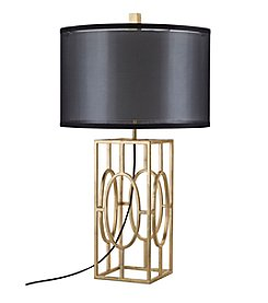 Catalina Lighting Gold Leaf Metal Table Lamp