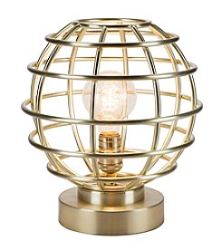 Catalina Lighting Antique Brass Metal Cage Accent Lamp