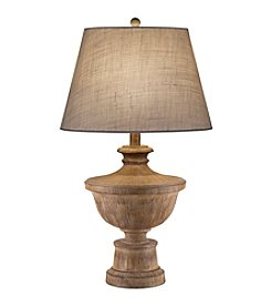 Catalina Lighting Distressed Faux Wood Table Lamp