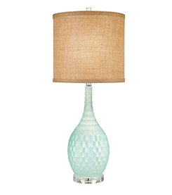 Catalina Lighting Seafoam Green Glass Table Lamp