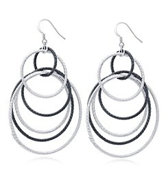 GUESS Two Tone Mixed Metal Orbital Earrings